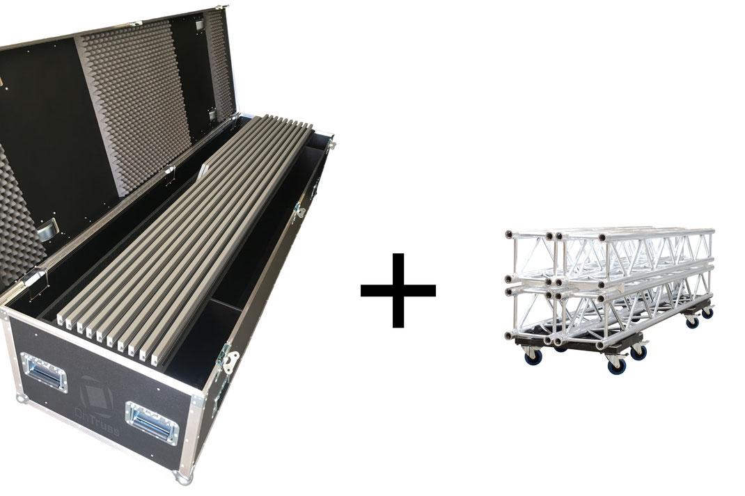 Das OnTruss EventBoard-System | Ein OnTruss-Case und Traversen genügen zum Bau hochwertiger Eventmöbel.