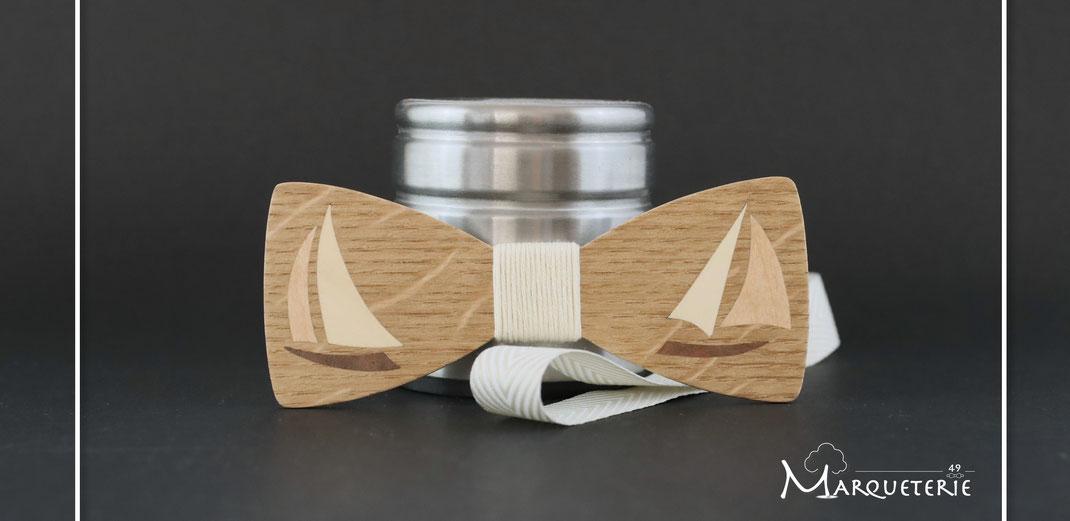 Noeud papillon insolite et original, accessoire wedding unique pour marin, navigateur au tour du monde