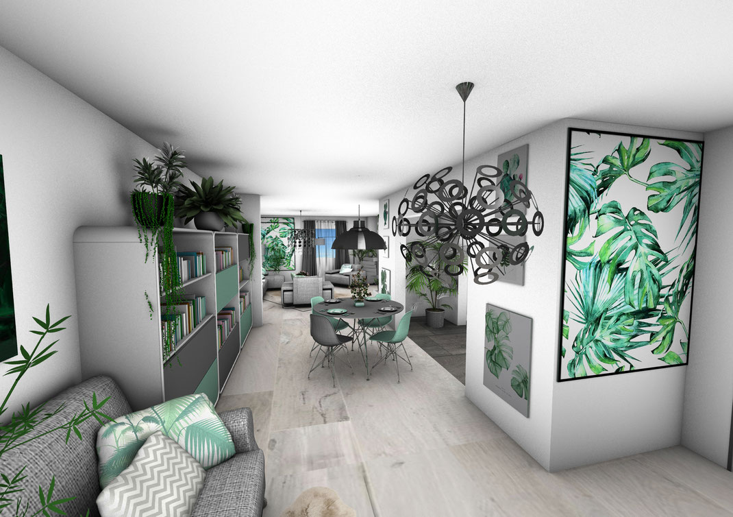Décoration D Intérieur Pas Cher se rapportant à appartement green - crhome-design - architecture d'intérieur par