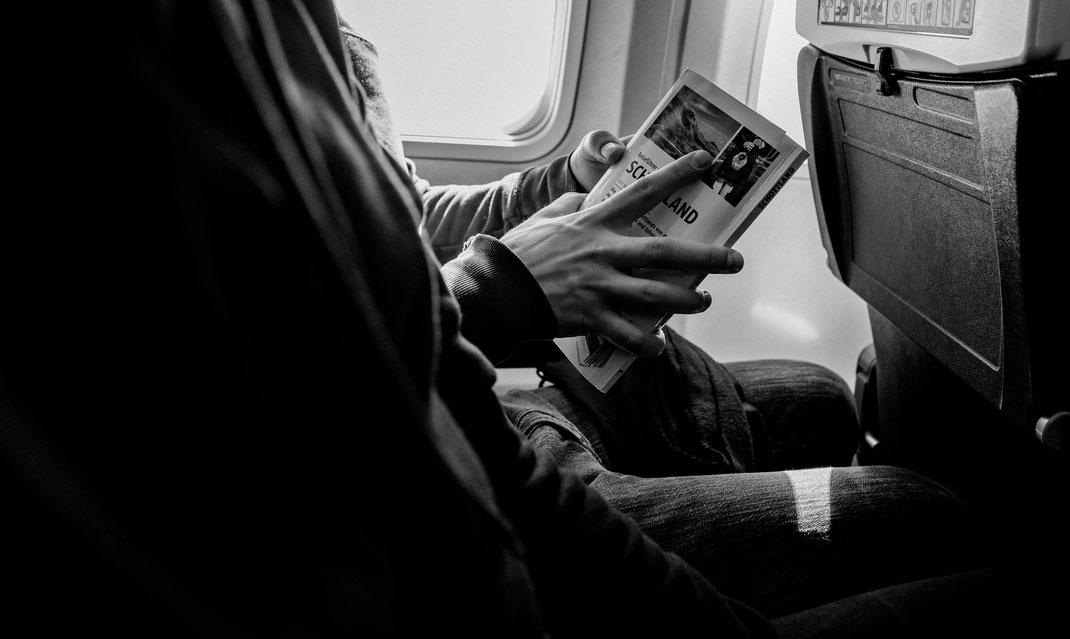 Travel Fotograf berlin Nadine Kunath günstig nach Schottland mit Flugzeug Spartipps