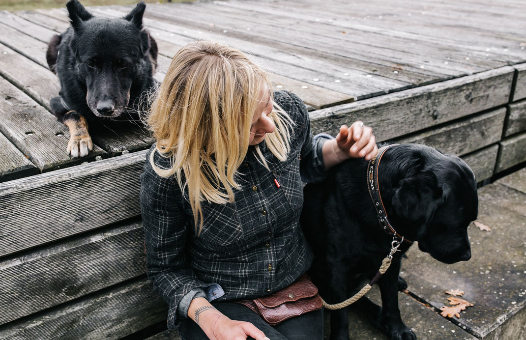 Treppe im Landschaftspark Adlershof Bildstrecke mit Hundeschule Hundekompass Trainerin Anna Ostrowska Hundefotografie Berlin