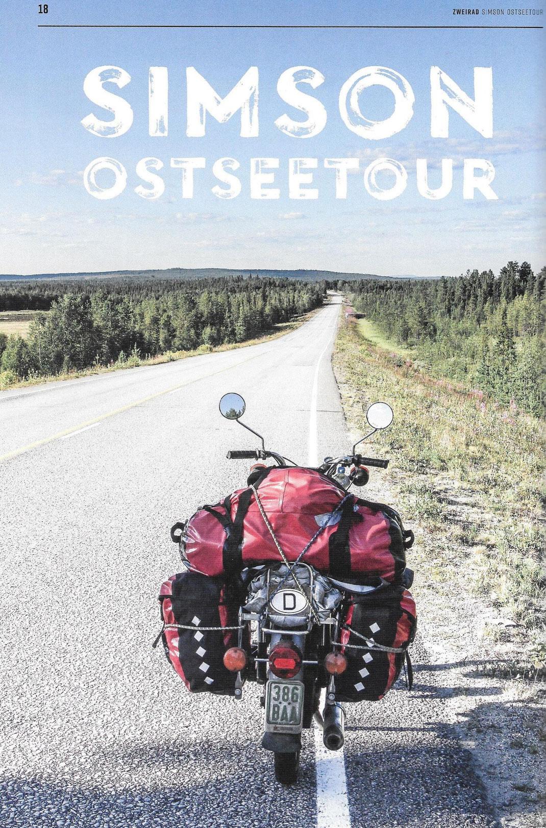 6-Seitiger Reisebericht im79-Oktan Magazin (2/2017)