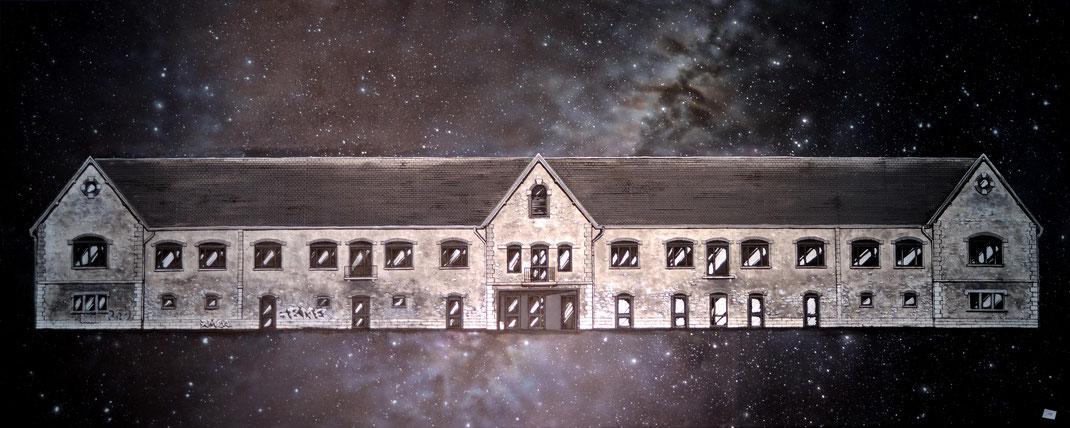 EL GATO ferme de bressieux collectif de la maise lamaise elgato artiste peintre peinture chambery savoie art mairie de bassens
