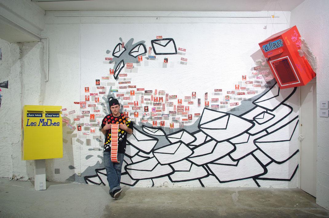 ACTION - Antoine Barsé - Collectif de La Maise - lamaise - Art Chambéry Graffiti Les Moches Crew mochecrew