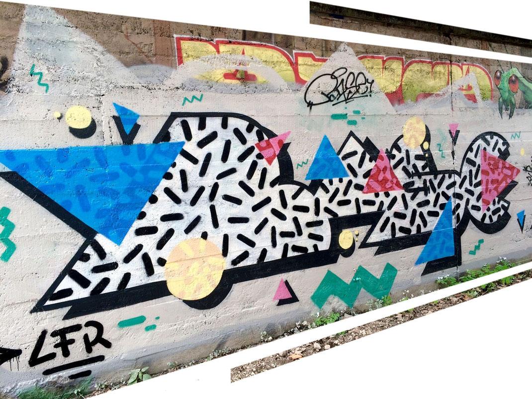 base cédric barse artiste graffeur graffiti streetart chambéry savoie collectif de la maise lamaise la maise fresque