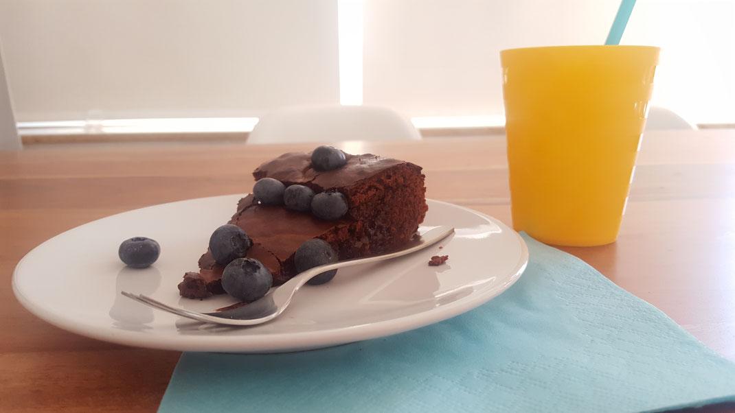 Schoko-Blaubeer-Kuchen