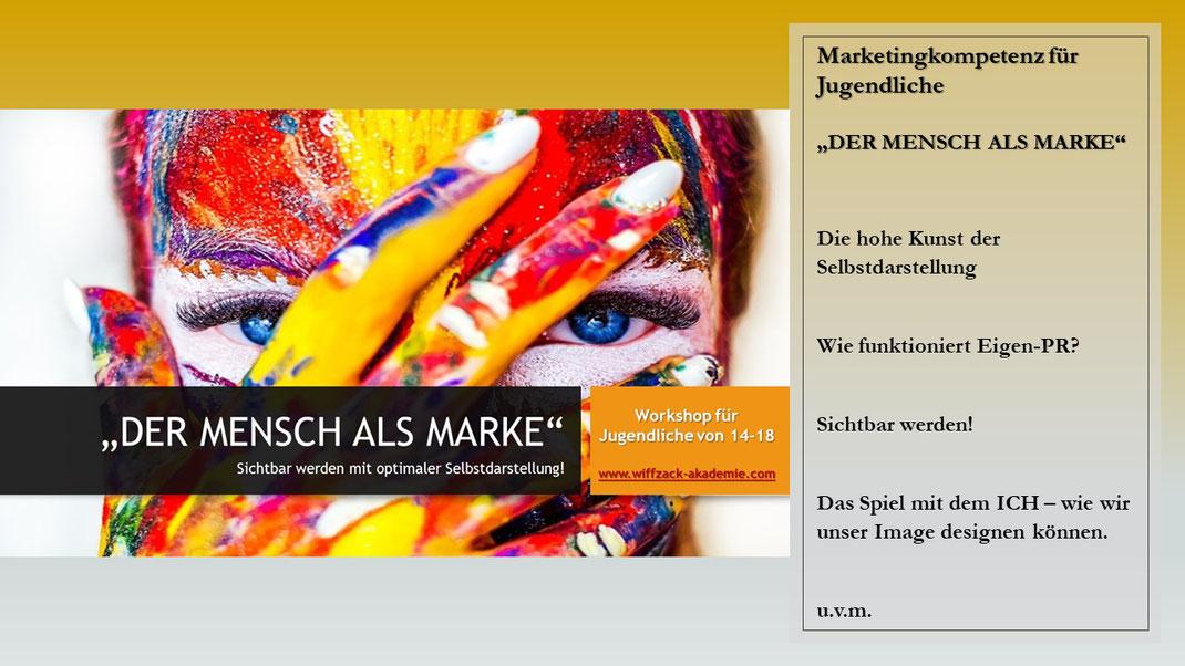 #Selbstdarstellung und #Selbstvermarktung für Jugendliche, #wiffzack mach Jugendliche #zukunftsstark! #Marketingkompetenz für Jugendliche