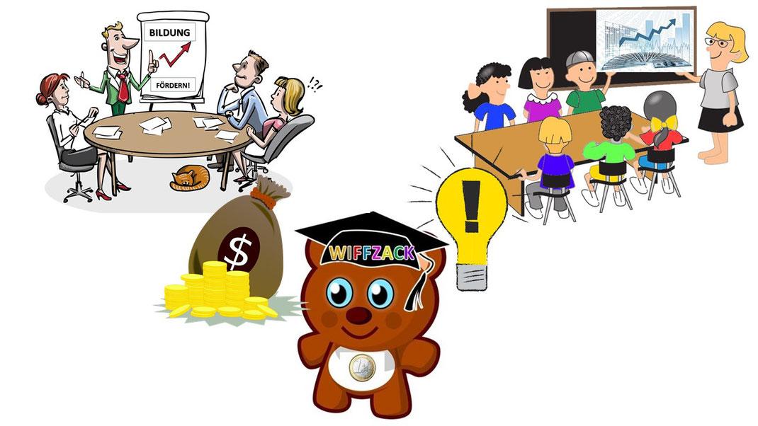Sponsoren finanzieren Workshops für Wirtschafts- und Medienkompetenz an Schulen!