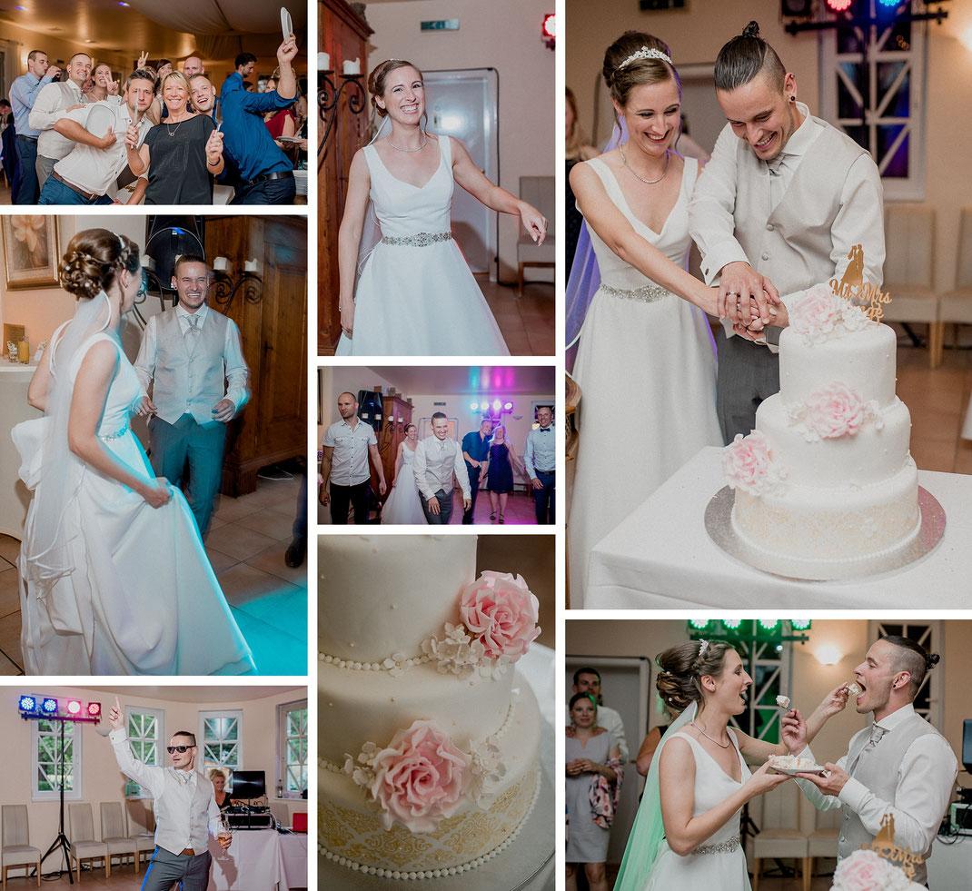 Hochzeitstorte-Hochzeitsfeier-Hochzeitstanz-Party-Torte-Brautpaar