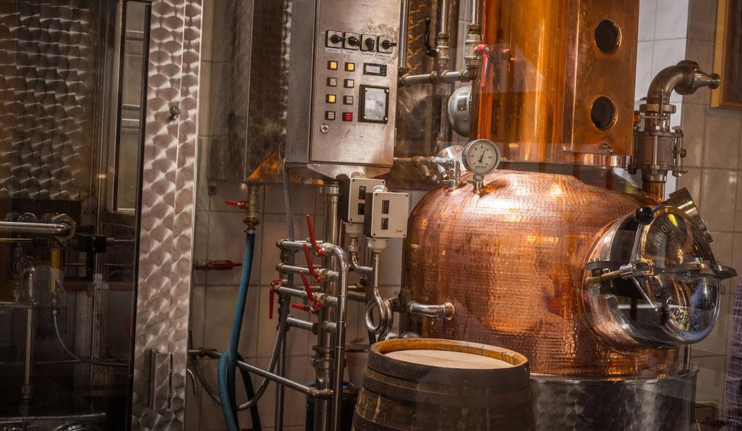 Spirit of Hafencity - Destille von Arnold Holstein mit 200 Liter Brennblase aus Kupfer