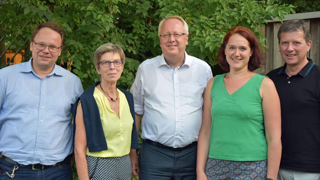 Matthias Dembski, Ingelore Rosenkötter, Michael Lürßen, Kathrin Moosdorf, Hinrich Länger (v.l.n.r.)