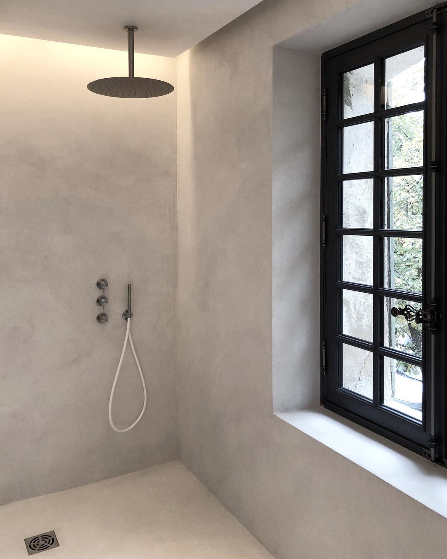 bertrand guillon architecture - architecte - marseille - BASTIDE AV - rénovation - intérieur - interiordesign - AIX-EN-PROVENCE - bastide - salle de bain - haut de gamme - luxe - luxury home - CEA DESIGN - béton ciré - douche - douche à l'italienne