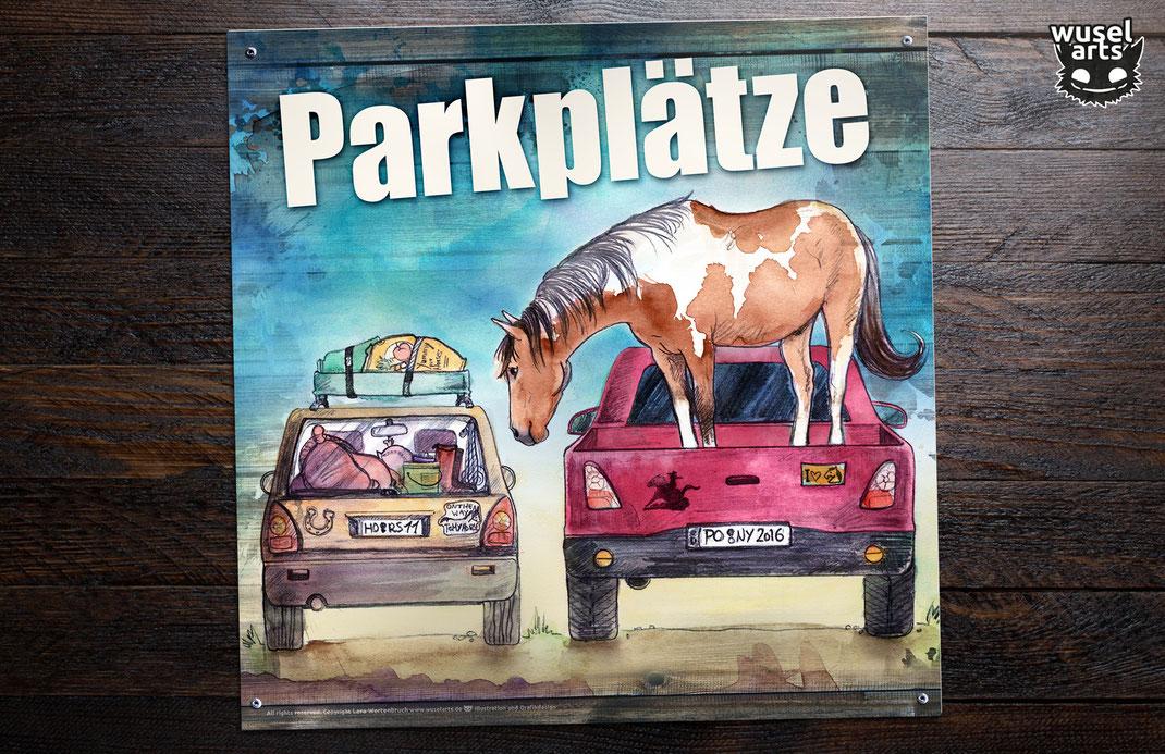 Reiterhof, Pferdehof, Ponyhof, Schild, Schilder, Parkplätze, Parkplatz