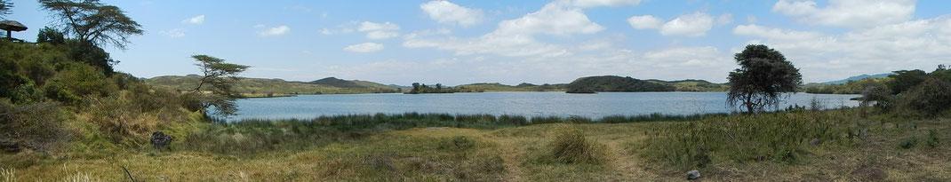Panorama Momella-See / Momella Lake Arusha NP