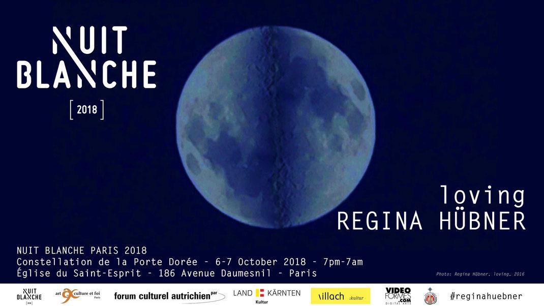 Regina Huebner, Nuit Blanche Paris, loving, solo event at Église du Saint-Esprit. Regina Hübner