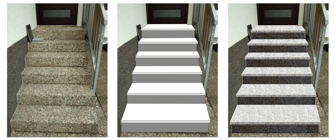 Wir entwickeln mit Ihnen zusammen digital die Optik der Treppenanlage
