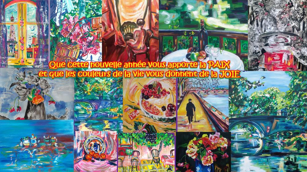 Voeux nouvelle année : « La couleur surtout et peut-être plus encore que le dessin est une libération.  » (Matisse )