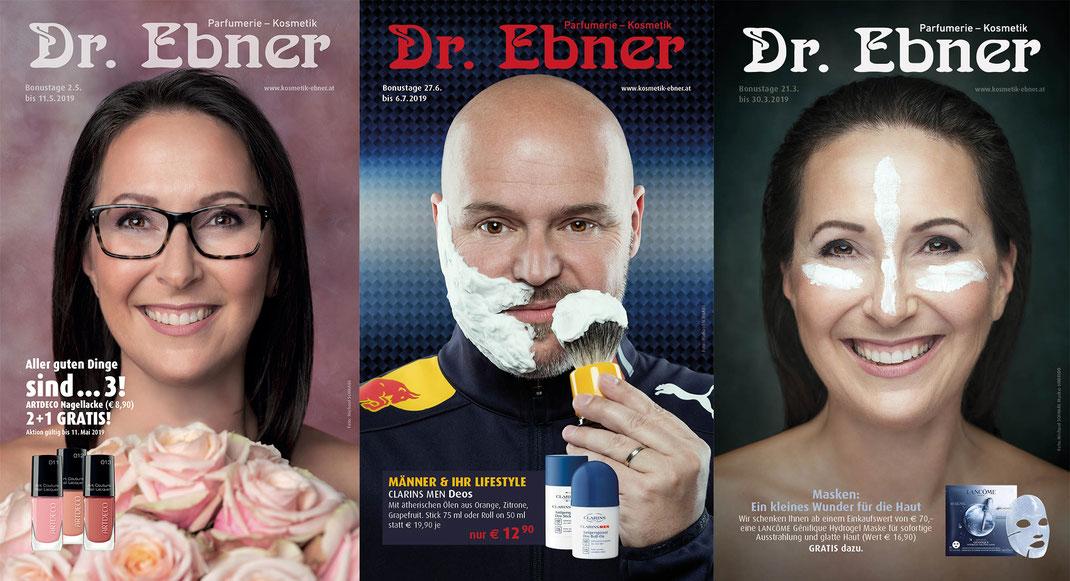 Covers für Monatsaussendung der Parfümerie Dr. Ebner in Graz @ Michael Schnabl