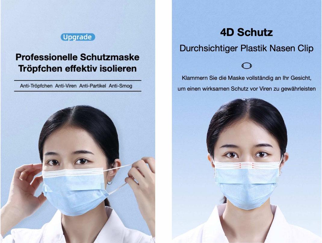 Mund und Nasenschutzmaske (MNS- Maske)