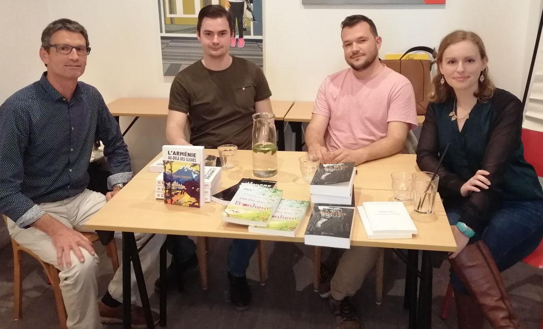 De droite à gauche : Georgia R., Raphaël W., Maxence S., Olivier H.