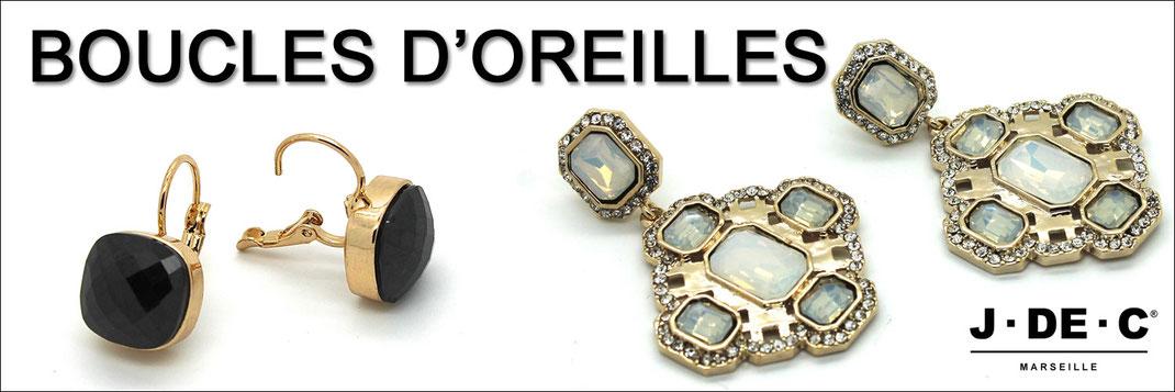 Bijoux fantaisie, Boucles d'Oreilles, Mode, J.DE.C boutique Mode Marseille