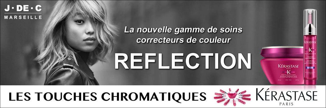 Touches Chromatiques, Reflection, Kerastase, J.DE.C Coiffure Marseille, expert kérastase Marseille, soin cheveux colorés