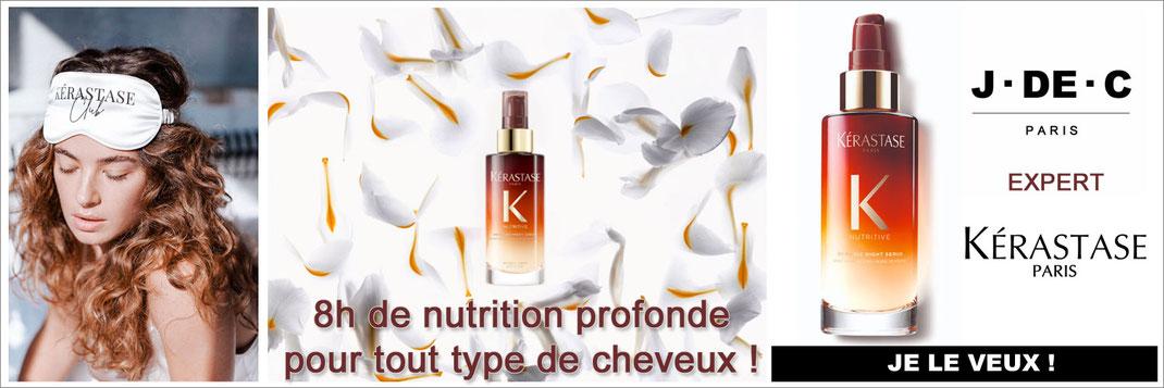 Acheter le sérum de nuit 8h, Nutritive Kérastase, J DE C Coiffure Paris, Coiffeur Marseille