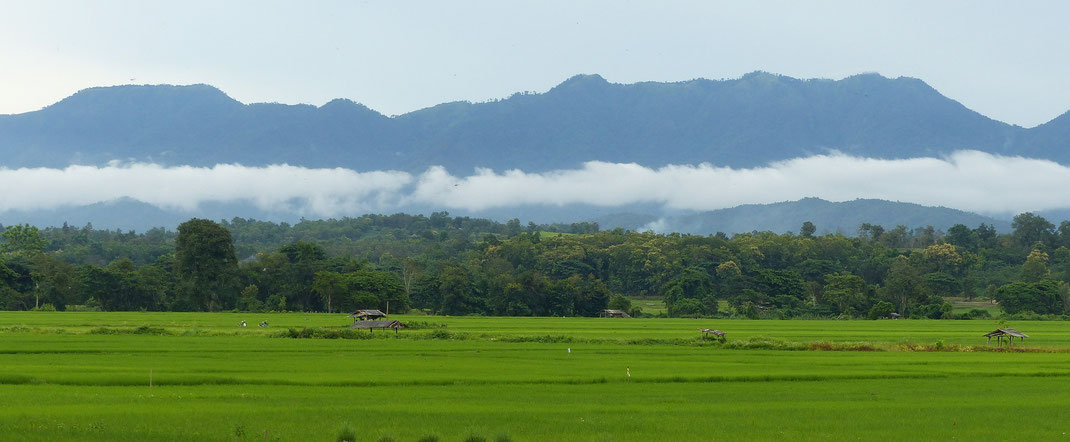 On the way from Pai e to Mae Hong Son in North Thailand