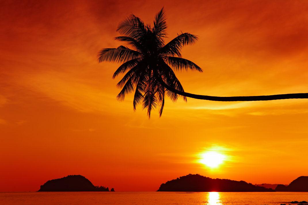 Sundown at the Beach on Koh Kood near Koh Chang in Thailand