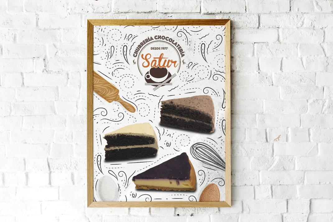 Cartel genérico para tartas.