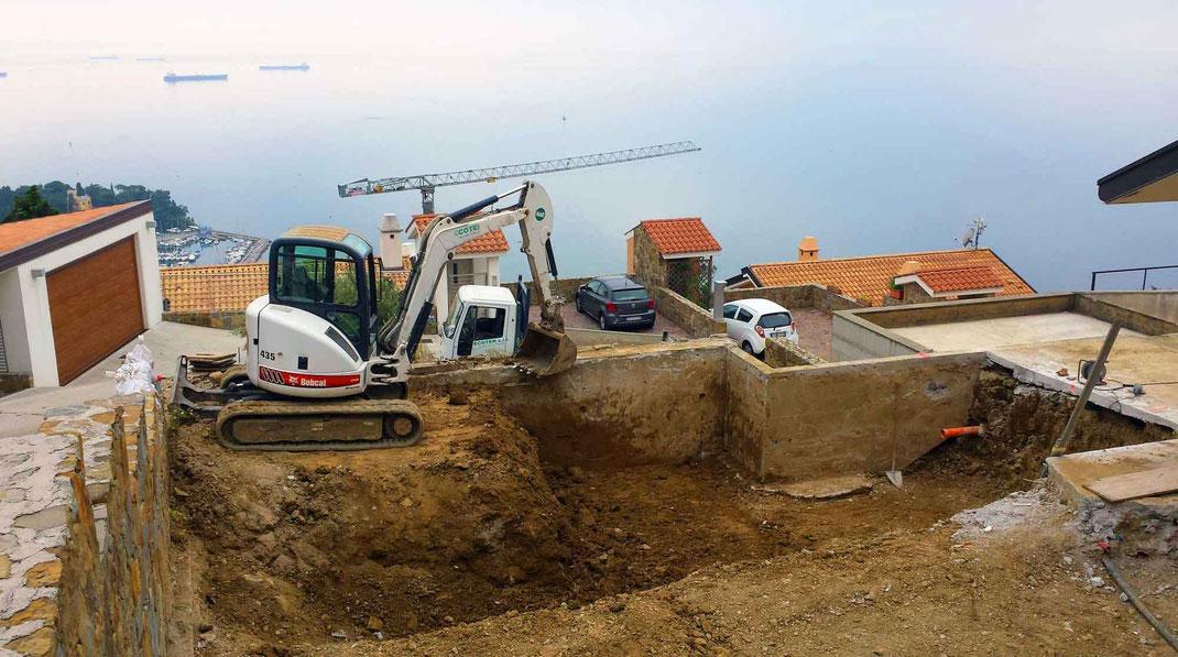 Edilizia privata Ecoter srl - scavo per costruzione piscina