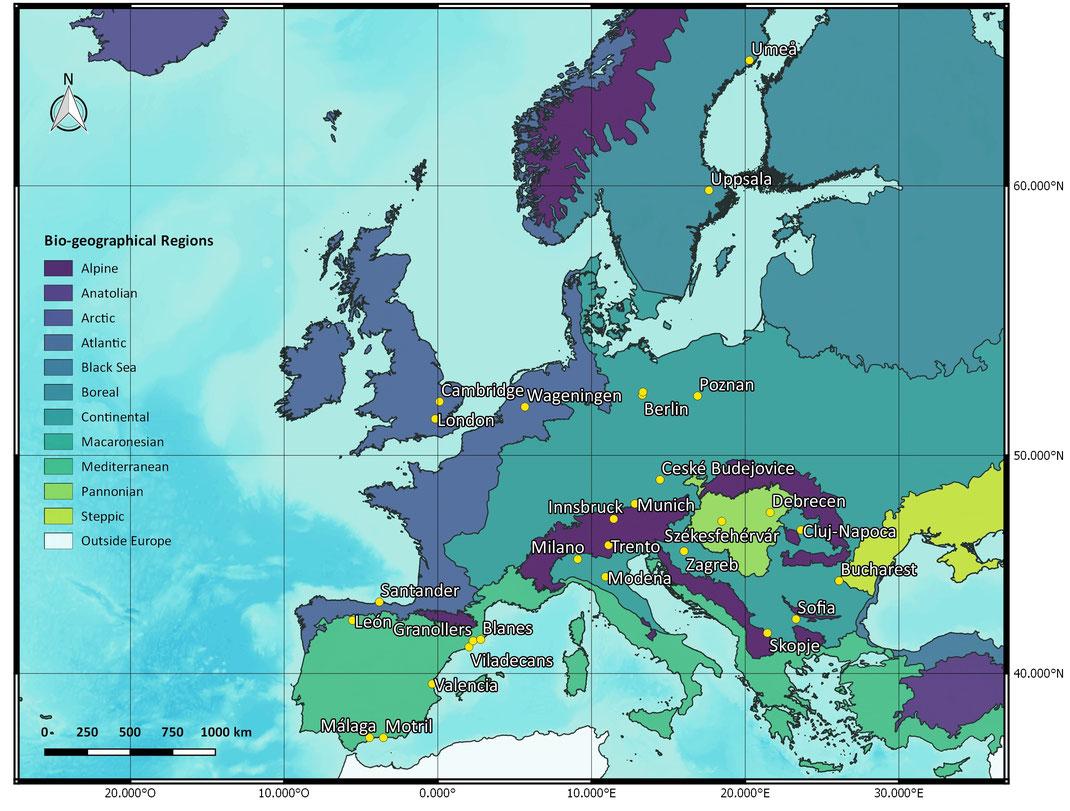 urban algae consortium map bioregions teams urban ponds