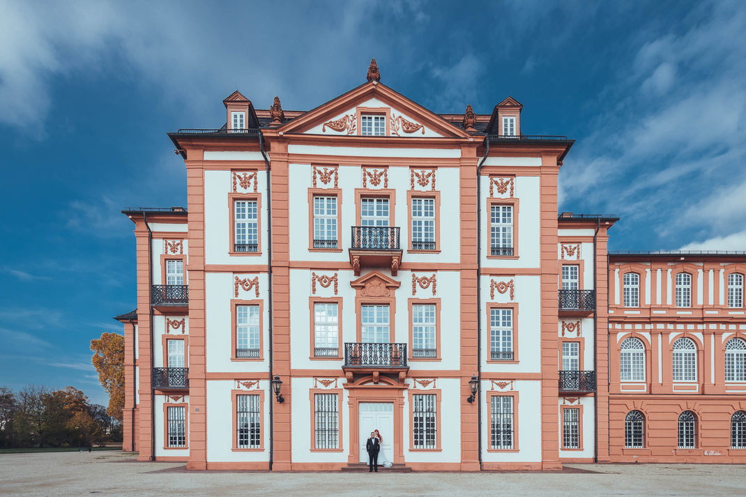 Fotograf für Afterwedding Shooting oder Hochzeit in Wiesbaden Schloss Biebrich