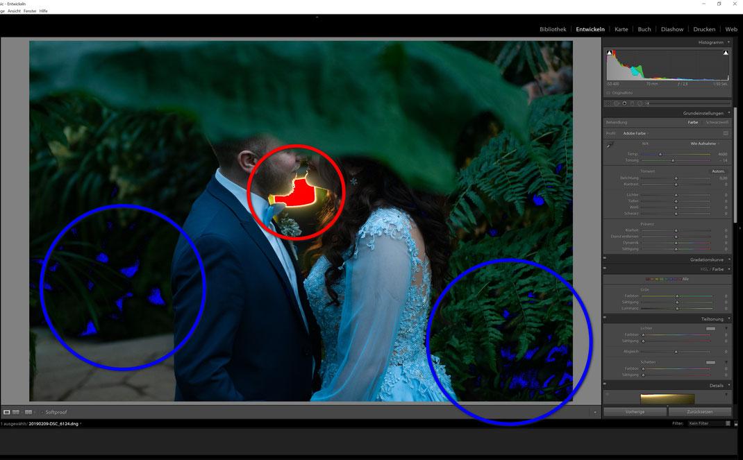 Trotz aller Vorsichtsmaßnahmen und Einstellungen, die man an der Kamera vornimmt, kommt es vor, dass Lichter und Schatten nicht immer korrekt abgebildet werden. Wie man die überbelichteten und unterbelichteten Stellen beheben kann, findet ihr auch in eine