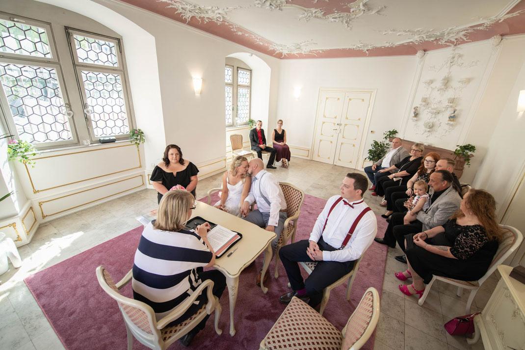 Standesamtliche Hochzeit und Brautpaar-Shooting in Reinheim