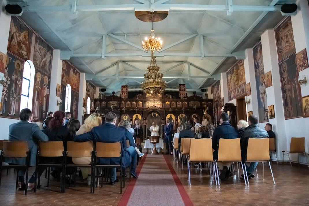 Professioneller Fotograf für christliche Orthodoxe griechische Taufe in Offenbach und Umgebung