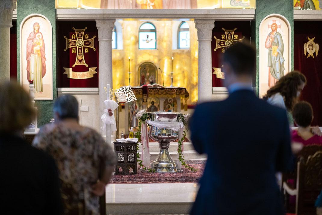 Fotograf und Videograf für griechisch orthodoxe Taufe in Frankfurt