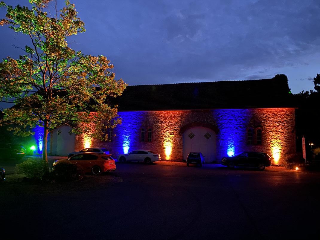 Veranstaltungstechnik Gütersloh, OWL, LED außen Beleuchtung