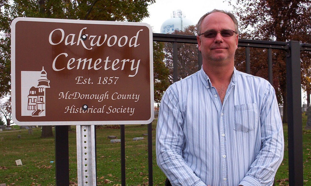 Gary Rhoads, Sexton of Oakwood Cemetery
