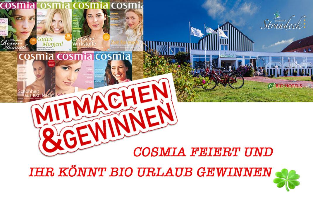 Cosmia, Bio Verlag, Bio Hotel Strandeck, Langeoog, Bio Hotels, Gewinnspiel