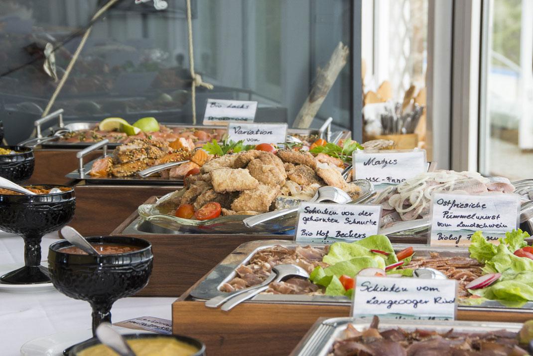 Langeoog, Urlaub, Strandeck Hotel, Nordsee, Wattenmeer, Bio Hotels, Schlemmer Buffet