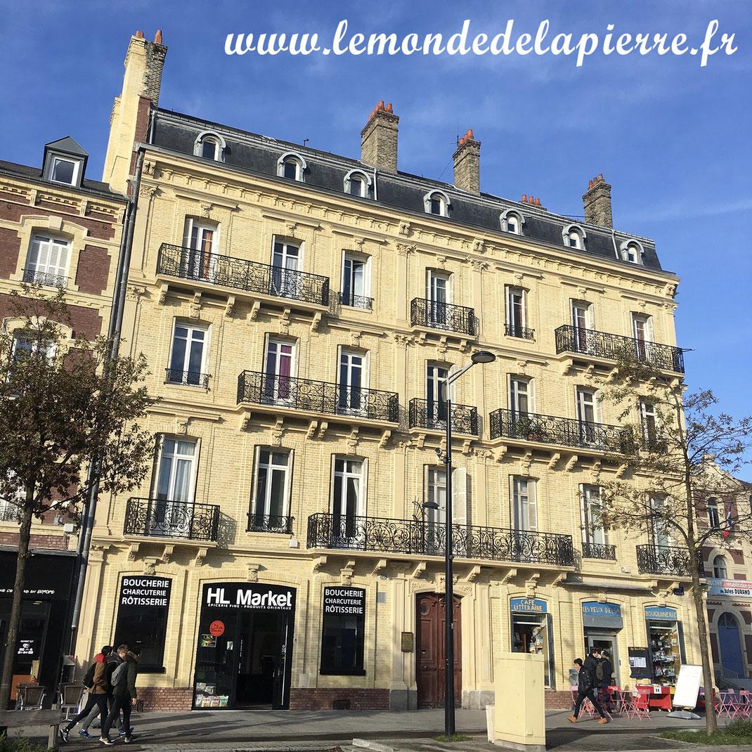 Restauration de façade en pierre naturelle au Havre, Normandie