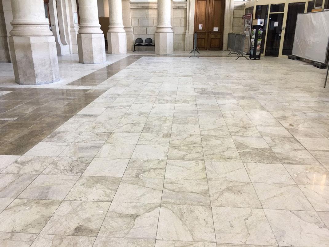700 m² de béton poli au Palais de Justice du Havre