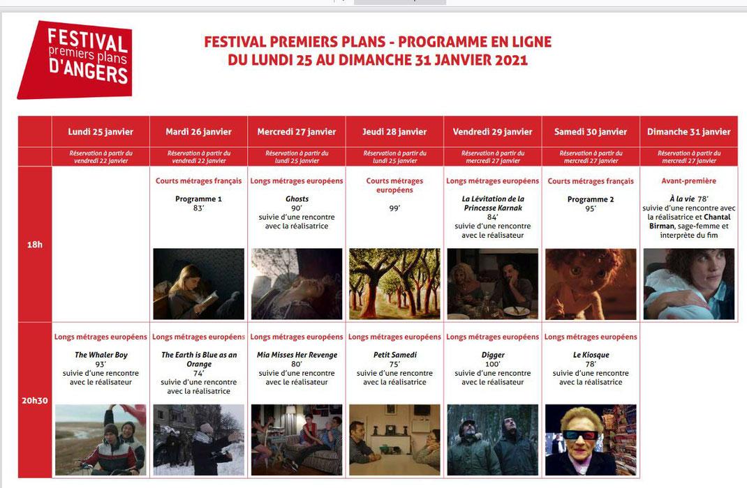 programme festival premiers plans angers 2021