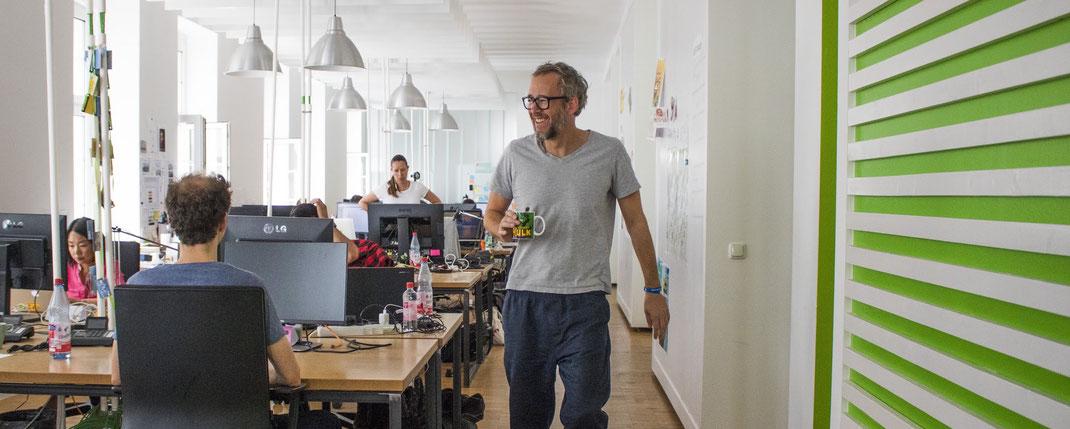 Blick ins Büro der Digitalagentur Unterschied & Macher in der Stuttgarter Straße in Frankfurt am Main