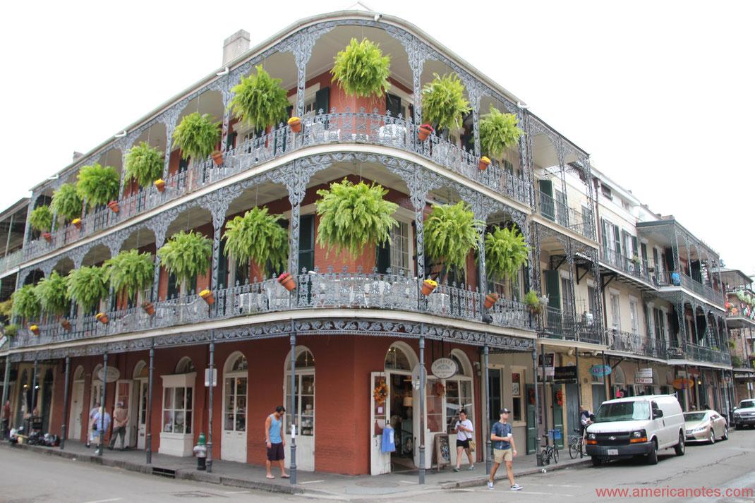 Die besten Sehenswürdigkeiten und Reisetipps für New Orleans. Französischens Viertel.