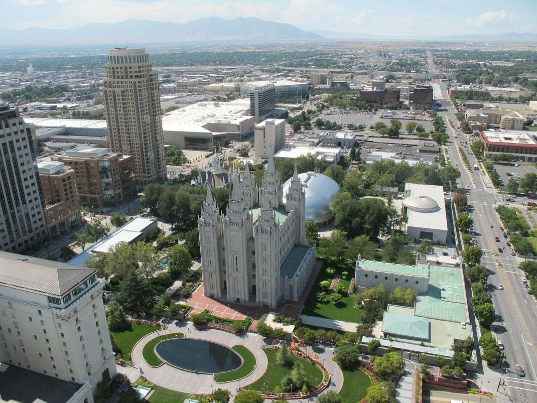 Blick auf Salt Lake City