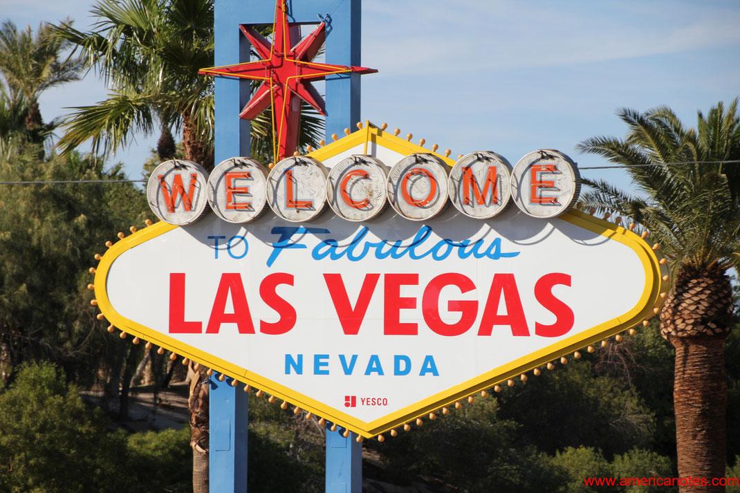 Welcome to Fabulous Las Vegas, das Ortseingangsschild von Las Vegas, Nevada, USA