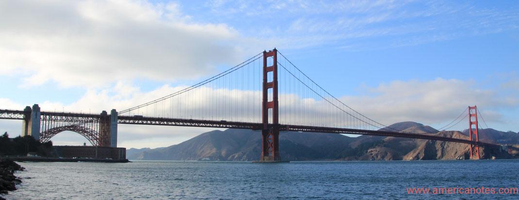 Sehenswürdigkeiten und Nationalparks in Kalifornien. Golden Gate Bridge, San Francisco.