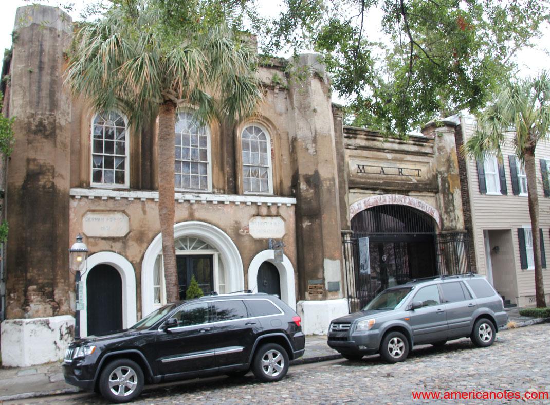 Die besten Sehenswürdigkeiten und Reisetipps für Charleston. Der ehemalige Sklavenmarkt.